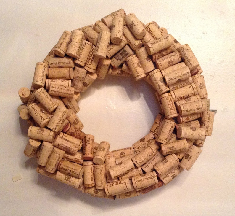 13 Wine Cork Wreath Wine Gift Unique Wine Gifts Gifts image 0