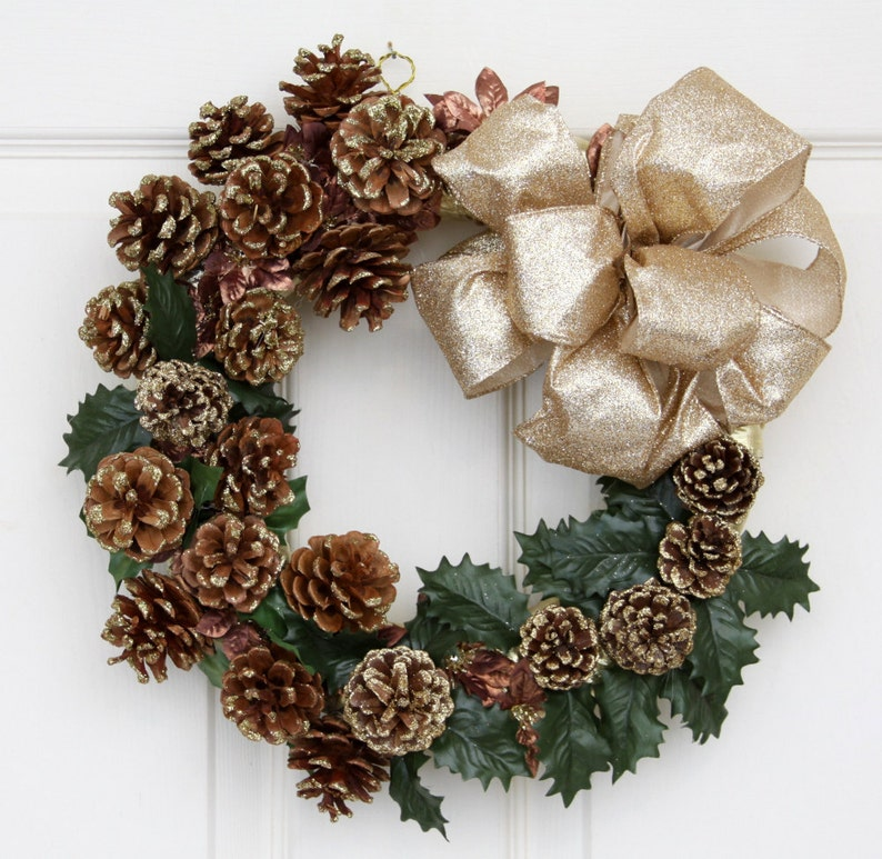 Pinecone Frenzy 12 Christmas Wreath // Holiday Pinecone image 0