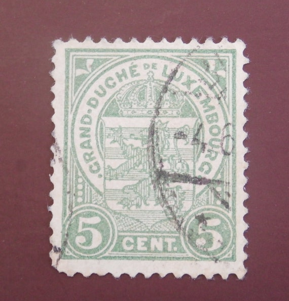 1916 Luxembourg 10 Cent Stamp Grand Duche De Luxembourg Etsy