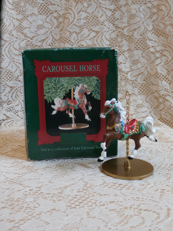 1989-Karussell-Pferd Stern 3. in Serie Andenken Ornament von | Etsy
