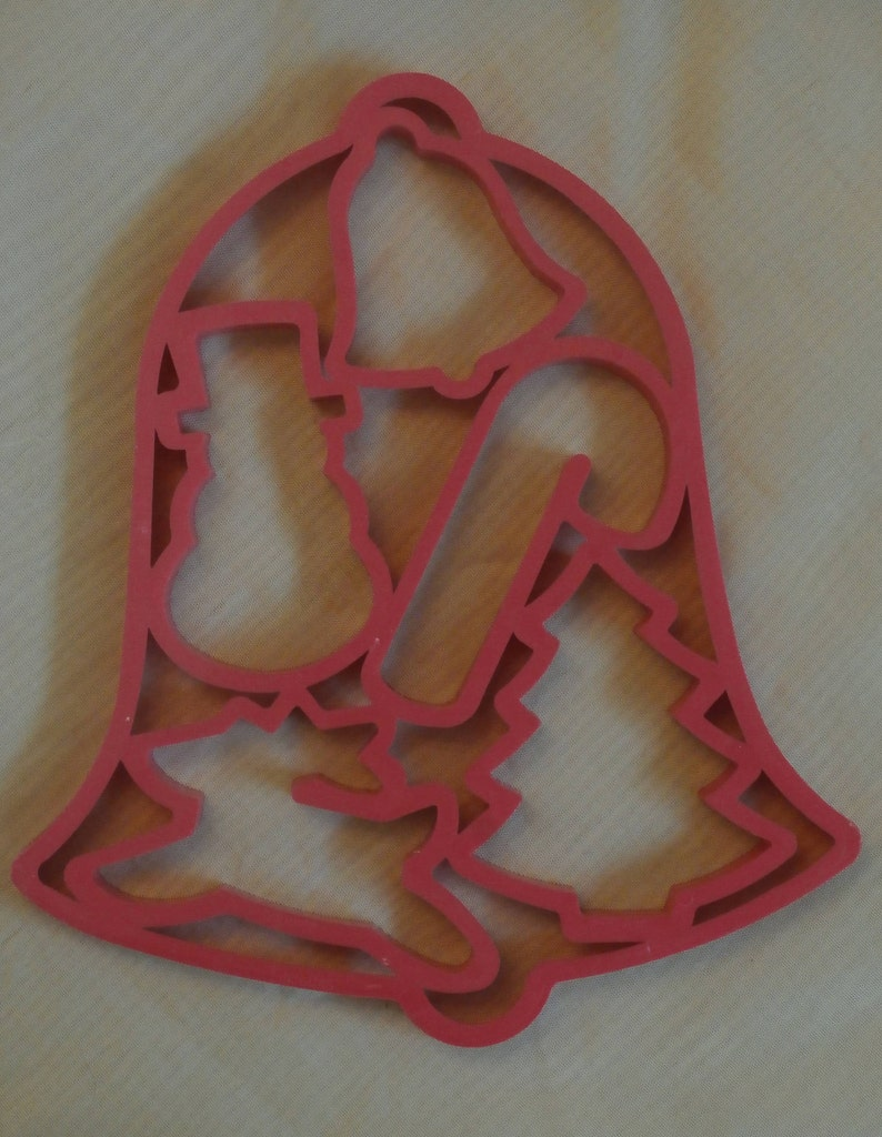 Reindeer Vintage Fun Cookie Cutters Tree Candy Cane Snowman 1991 Christmas Bell Jello Jigglers Mold