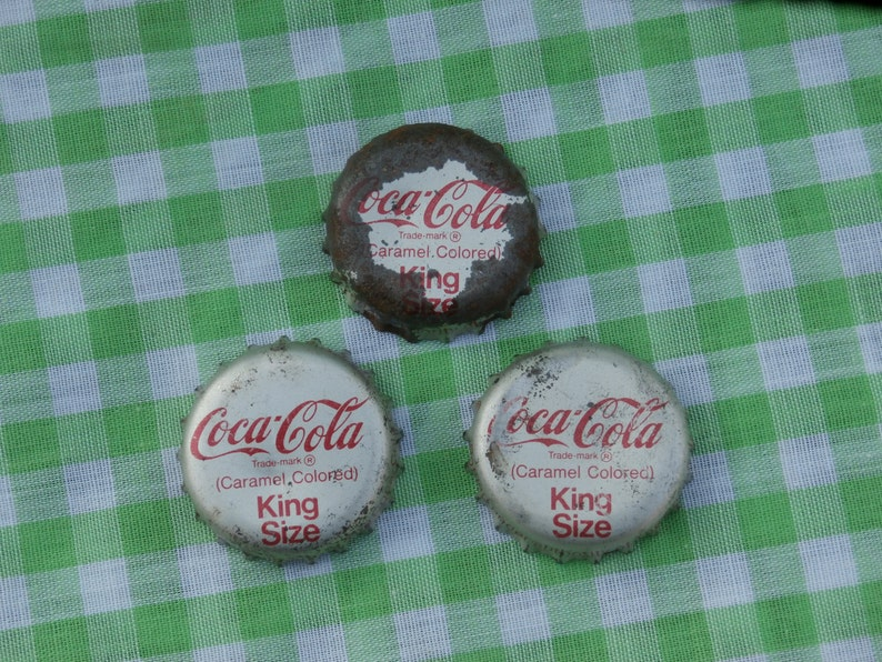 5 Vintage Original COCA COLA SODA Bottle Cap 1950s Cork COKE