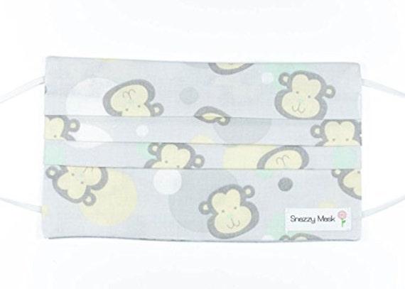 Jugend-OP-Maske Kinder Grippe-Maske Mundschutz Affe | Etsy