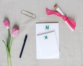 Single Initial Monogram | Personalized Notepad | Custom Colors | Monogram Stationery | Small Notepad | Medium Notepad