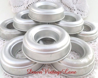 9 Vintage Ring Shaped Jello Molds All Sorts of Uses, Jello, Cakes, Trinkets, Buttons, Baubles