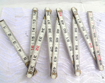 Vintage Lufkin Wooden Folding Ruler Six Feet Long Folding Ruler