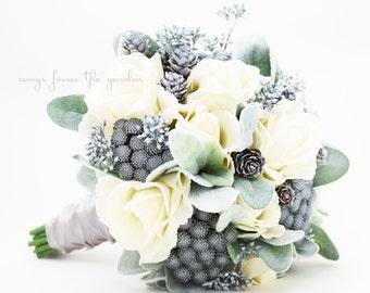 Winter Wedding Bouquet Etsy