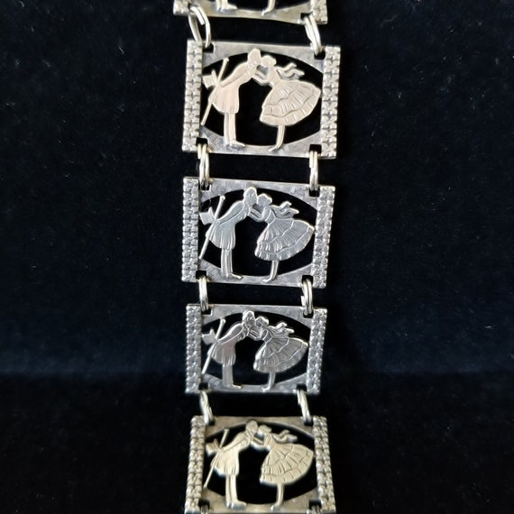 Antique Victorian Sterling Silver Sweetheart Court