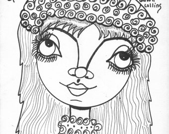 Christmas Girls Coloring Book Give Art For
