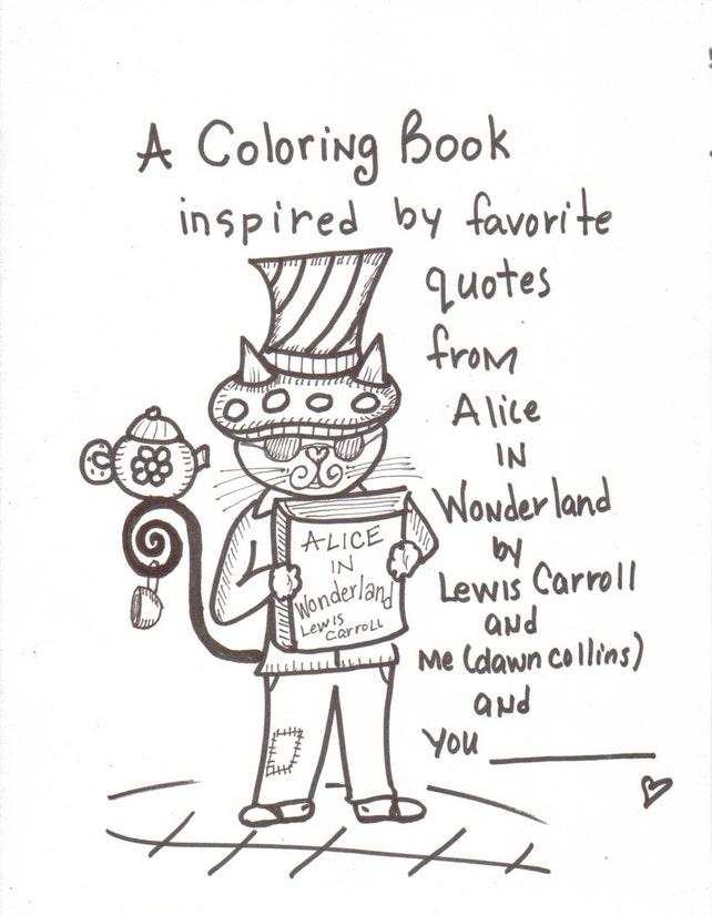 Libro para colorear país de las maravillas inspiraron libro | Etsy