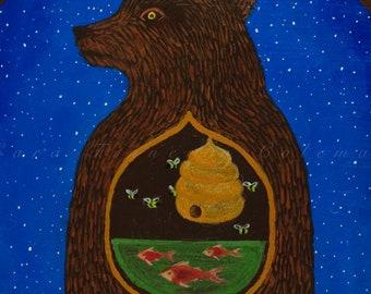 9x9 Hibernation Dream Giclee Fine Art Print ©Cara Finnerty Coleman