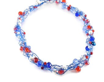 Wire Crochet Necklaces