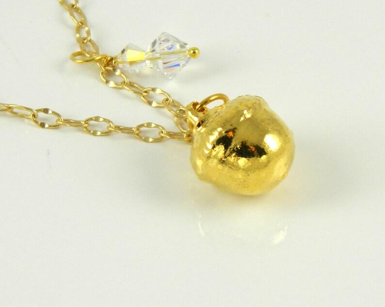 Ranger's Apprentice fan Acorn Small Gold Acorn Necklace image 0