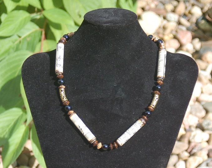 Music Necklace - Paper Bead Necklace