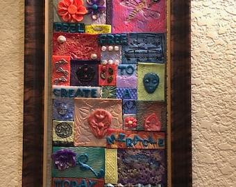 Sale -  Multimedia Mosaic Tile Wall Hanging - Mosaic Wall Art