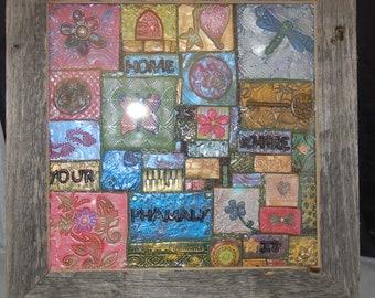 Multimedia Mosaic Tile Wall Hanging - Mosaic Wall Art