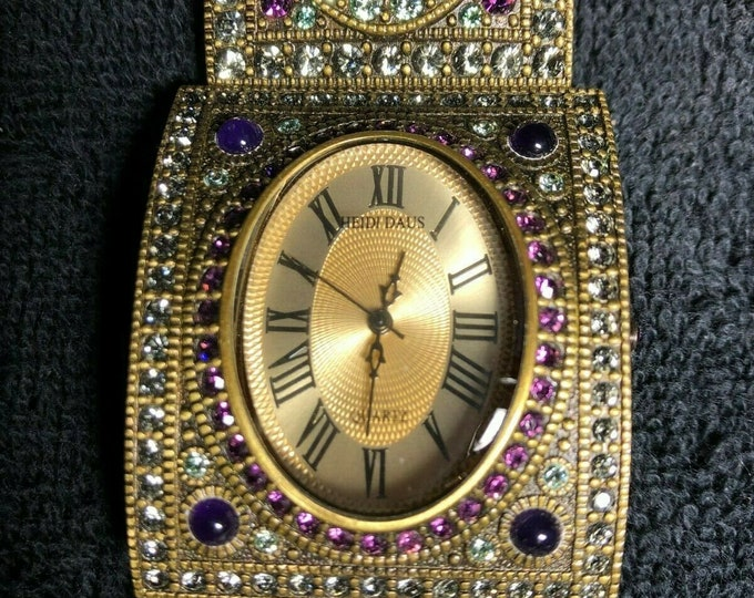 "Heidi Daus ""Once Upon A Time"" Swarovski Watch Bracelet"