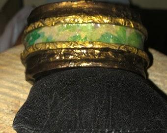 "Bracelet, Romantic Ribbon Cuff, Gift for Mom, ""Oasis"""