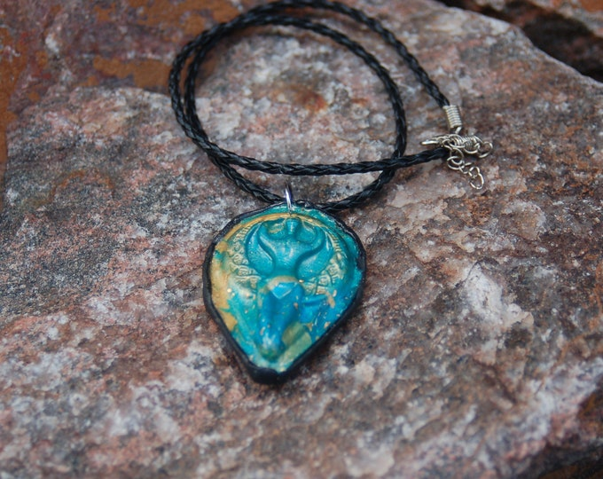 Goddess Pendant Necklace - Polymer Clay Pendant