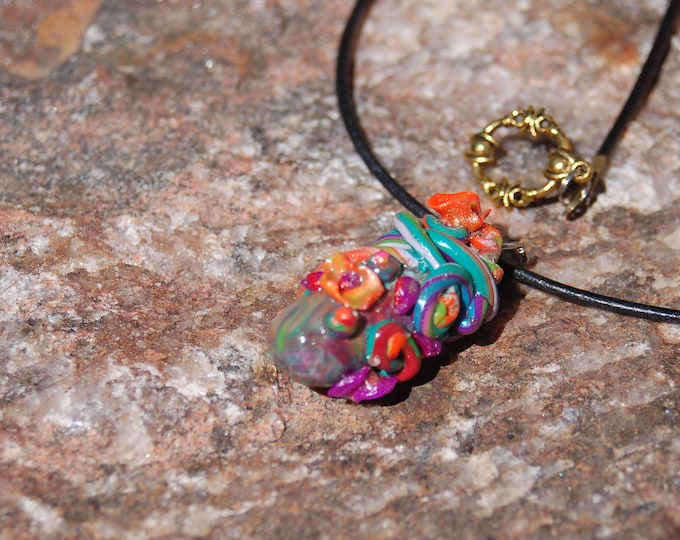 "Floral Pendant Necklace - ""Sprouts"""