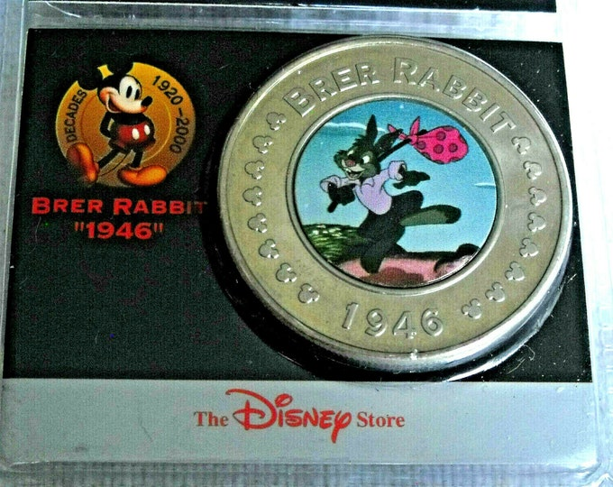 Disney Brer Rabbit Song of the South 1946 Splash Mountain Decades Coin