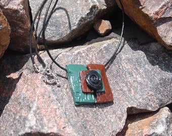 "Sale -  Unisex Clay Pendant Necklace, ""Beginning"""