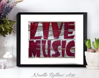 music wall art Print of pallet wood Choice of 11x14 print feature musical pallet wood message - musician guitarist wood signs decor rustic