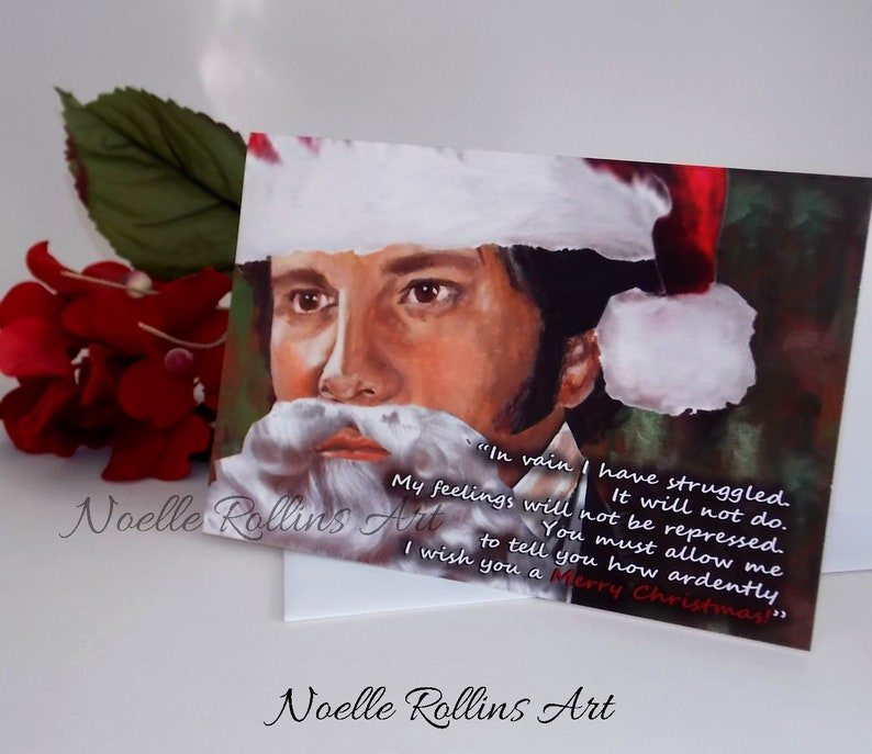 Mr Darcy Christmas cheesy christmas Card some love for the image 0