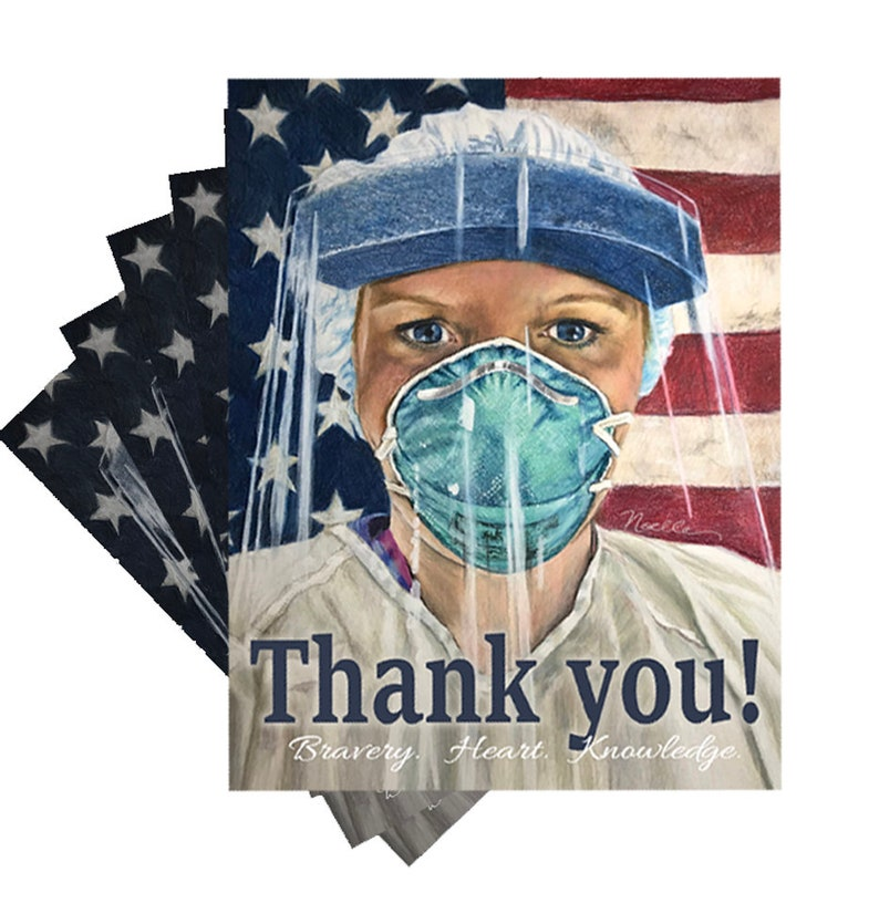 Thank you Nurse postcard sets or posters to give or mail. image 0