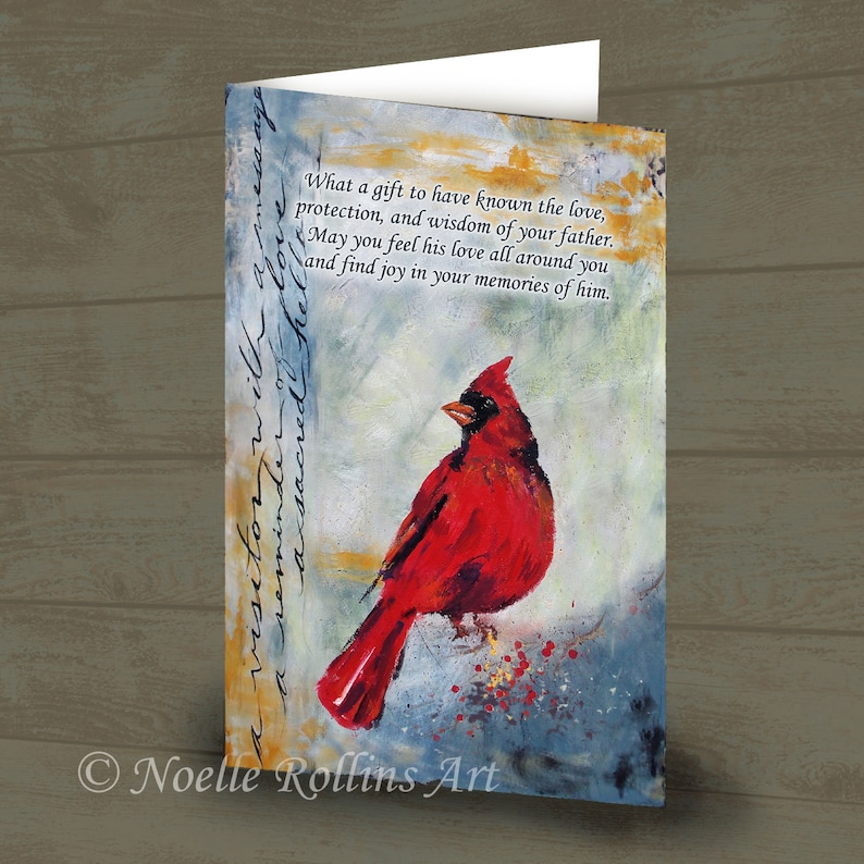Sympathy Fathers grief card for someone whose dad has passed image 0