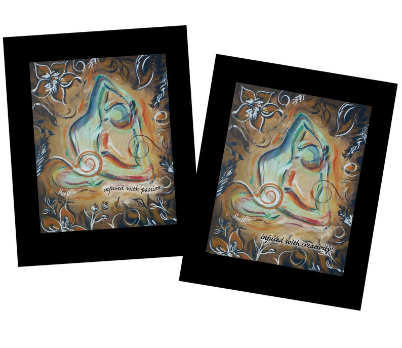 Clearance Creativity and passion yoga wall art Soulful Yoga image 0