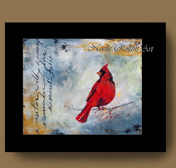 Cardinal Prints Choice Of Matted Wall Art Featuring Red Etsy