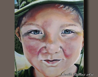 Custom Portrait payment #2 paintings of children baby adult family portrait artwork wall art