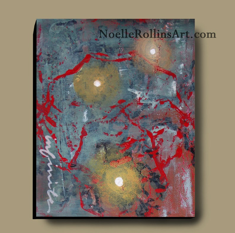 Infinite spiritual original artwork  acrylic canvas 5 inches image 0