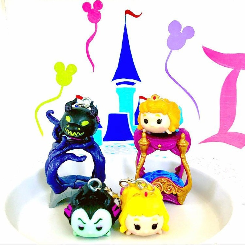 Sleeping Beauty Characters Aurora or Maleficent Planner Charm