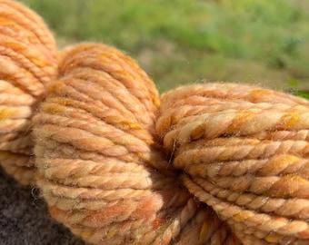 Dark Grey 179g Handspun Herdwick Yarn British Handspun Yarn 2 Ply Bulky  Chunky Weight