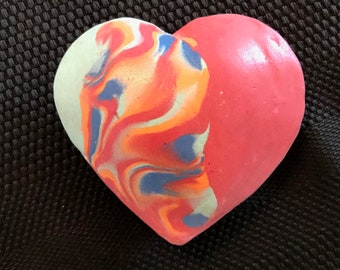 Spread kindness and love with a handmade one of a kind clay heart that has a sweet sound when you shake it. Lift your spirit. With gift box