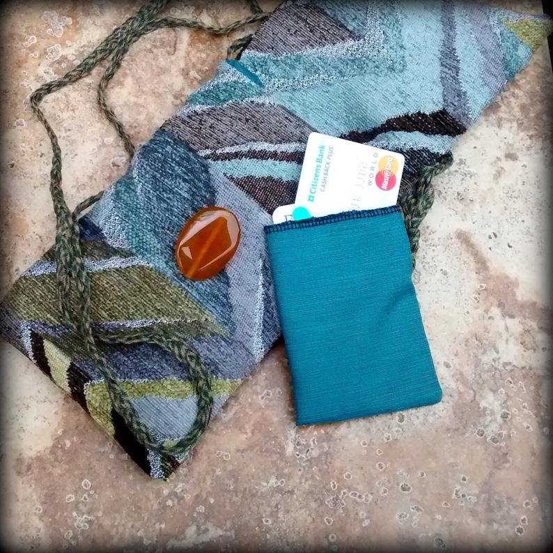 Passport Bag Cell Phone Bag Crossbody Bag Greens and Earthtones