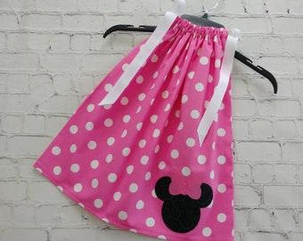 Mickey Minnie Birthday Party Outfit Disney Pillowcase Style Dress Minnie Mouse Dress Pillowcase Dress