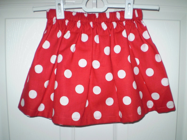 152fde24a Red Polka Dot Twirl Skirt Girls Red Skirt-Minnie Mouse | Etsy