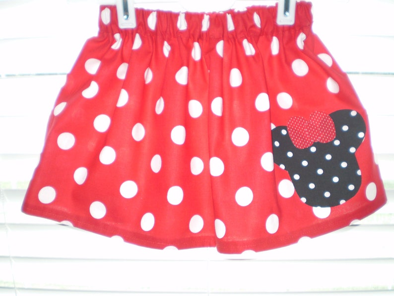 b98c2fb11 Red with Black Polka Dot Minnie Mouse Skirt Minnie Themed | Etsy