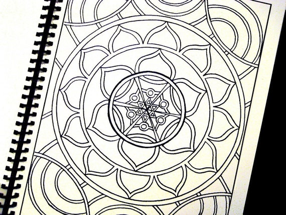 Color Me Rainbow A Coloring Book For All Ages 24 Spiral Bound Pen And Ink Drawings