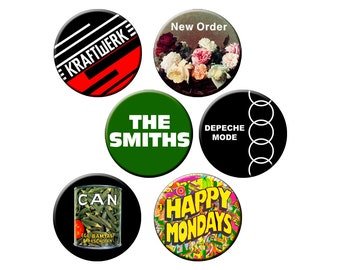 """Indie Badge Pack #3- Indie Band All-Stars Pack of Half Dozen Quality 1.25"""" Indie Music Pinback Buttons or Pins"""