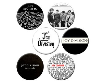 6 Joy Division Badges - Pack of 6 Small 1.25 inch Pin Back Buttons - Joy Division New Order  - 6 Small Pins