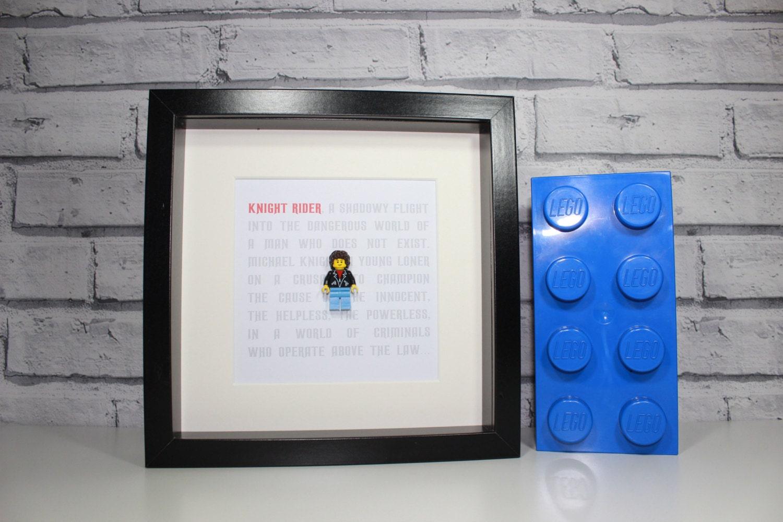 KNIGHT RIDER gerahmte benutzerdefinierte Michael Knight Lego | Etsy
