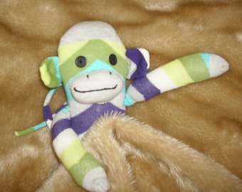 Cuddly sock monkey toy