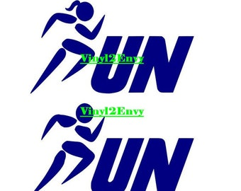 "50k Ultra Marathon Decal Sticker Runner Logo Run *Brand NEW Design 4.5/"""