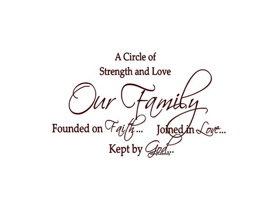 A Circle Of Strength Love Our Family Founded On Faith Joined Etsy
