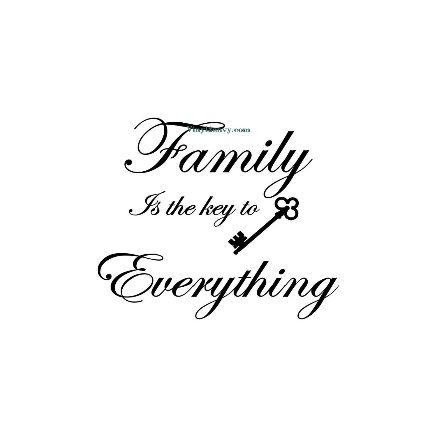 Family Is The Key To Everything Wall Decal Vinyl Wall Etsy