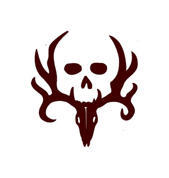 Deer Hunting Decal With Skull Car Decal Vinyl Car Decals